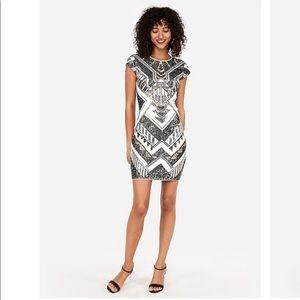Express sequin Aztec dress